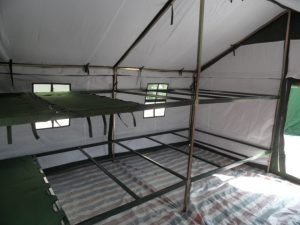 Army winter bunk beds tent