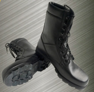 black leather boots waterproof black tactical combat boots military