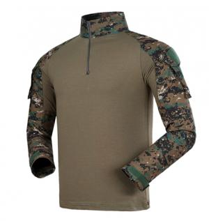 digital woodland Combat uniform men t shirt