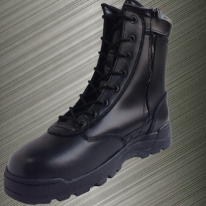 military leather security police boots tactical boots