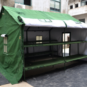 military soldiers and workers living camping tent for 10 persons