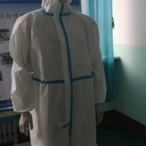 China Factory supply PE PTFE TPU film non woven protective clothing medical protective clothing suit coverall