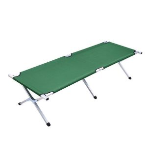 military folding camping bed portable army metal camping stretcher bed