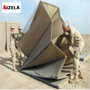 Galvanized Military Sand Wall Hesco Barrier army military Hesco defence barrier
