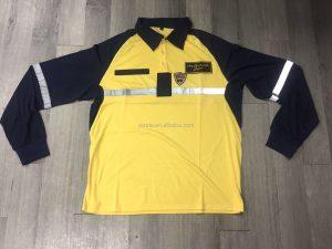 Hi Viz Navy Collar Safety Work Wear 2 Tone Hight Visibility Polo T-shirt workwearshirt
