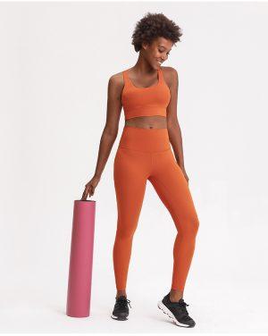 2021 new printed sports underwear women cross back running yoga fitness wear sets